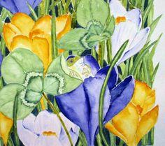 """Spring"" Watercolour Maria Inhoven"
