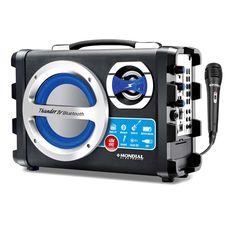 Caixa Acústica Mondial Multi Connect MCO04 Bluetooth USB Microfone com Fio  40W << R$ 16191 em 5 vezes >>