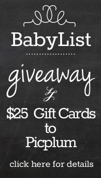 Giveaway - Giveaway - Giveaway! Its a BabyList and Picplum Giveaway!! #BeautifulBabyShower