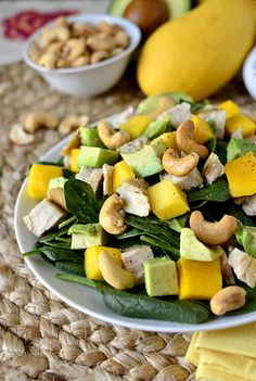 Cashew Chicken Mango Salad -  This was a delicious, filling salad that screamed summer. I can't wait to make it again!! YUM!
