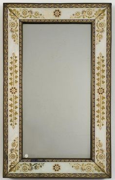 776: Charles X verre eglomise wall mirror : Lot 776