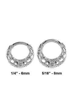 Surgical Steel Septum Clicker Ear Cartilage Helix Nose Ring Hoop Clear Choose Your Size Septum Clicker, Hoop, Piercings, Ear, Steel, Ring, Amazon, Bracelets, Silver