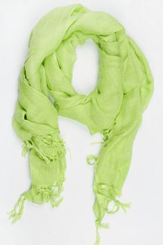 Love Quotes Italian Linen Scarf in Lime Ice $51 at www.tobi.com