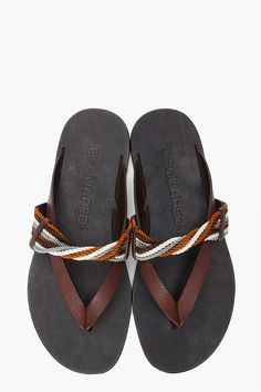 Dsquared2 Leather Cordini Sandals for men