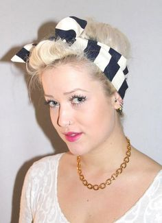 50S Hairstyles With Scarf