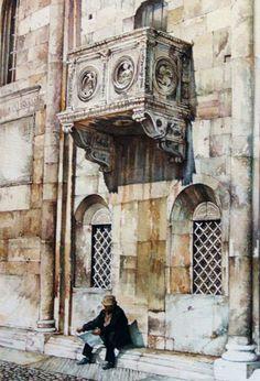 Giorgio Casoni pittore. opere, dipinti, pitture e disegni di Giorgio Casoni:  matite, chine,  acquerelli e oli, dipinti floreali sul tema: architettura,…