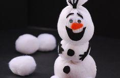 cara membuat boneka salju dari kaos kaki