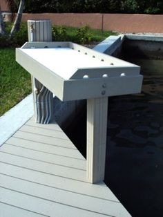 TanDeck Recycled Plastic Fish Cleaning Station Shoreline Lumber - Kingdom of Animal's Recycling Facts, Recycling Station, Recycling Information, Fish Cleaning Table, Fish Cleaning Station, Woodworking Joints, Flirt, Waterfront Homes, Outdoor Furniture