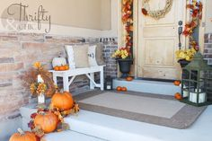 10 Fall Front Porch Ideas by A Blissful Nest