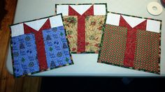 Christmas quilted placemats - gifts!