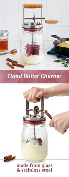 Whip up your own fresh batch of butter with this butter churner, packed with recipes for flavored varieties.