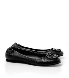 Tumbled Reva Ballet Flat by Tory Burch