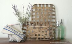 Shop Decor Steals for new deals everyday on vintage, rustic and farmhouse decor - from wall decor and lighting to baskets and kitchen decor! Bushel Baskets, Baskets On Wall, Tobacco Basket Decor, Farm House Colors, Amazing Decor, Basket Decoration, Diy Wall Decor, Room Decor, Farmhouse Decor