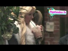 Paris Hilton Is Sexy In Fur @ Bleu Clothing in Los Angeles! - YouTube