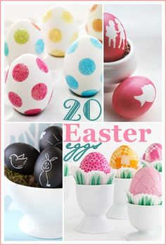 20 Easter EGG TUTRIALS... These are my very fav♥rites! #Easter #eggs