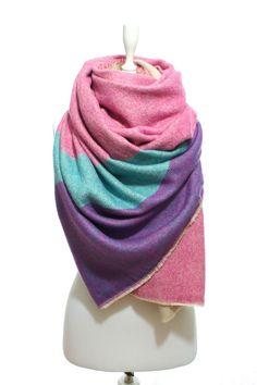 24662744dbda4 Blanket Scarf Oversized Reversible Pink Cozy Warm Man by escherpe Aztec  Scarves, Chunky Scarves,