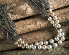 Sidney Garber Pearl and labradorite necklace