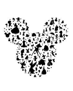mickey ears silhouette.. downloadable JPEG.. by studiomarshallarts