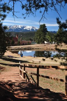 Ahhhh...the old town lake in Woodland Park, CO.  Quite a view, eh?