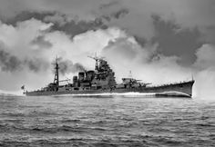 Takao was the lead vessel of the Takao-class heavy cruisers, active in World War II with the Imperial Japanese Navy.