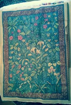 """Ehrman Tapestry """"Rug of Flowers"""" by Candace Bahouth #Ehrman"""