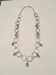 Hammered Circles with Teardrop Necklace