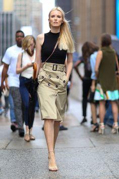 Pin for Later: Les Meilleurs Looks Street Style de la New York Fashion Week New York Fashion Week, Jour 1 Kate Davidson Hudson.