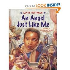 An Angel Just Like Me by Mary Hoffman, illustrated by Cornelius Van Wright and Ying-Hwa Hu Childrens Christmas Books, Christmas Books For Kids, A Christmas Story, Childrens Books, Christmas Tree, Family Christmas, Christmas Ideas, Christmas Ornaments, African American Literature