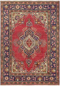 Red Tabriz Area Rug