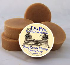 Bay Rum and Honey Shaving Soap made with Bentonite Clay on Etsy.