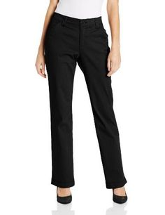 Lee Womens Comfort Fit Carden Slimming Straight Leg Pant Black 10 Short -- More info could be found at the image url. (Note:Amazon affiliate link)