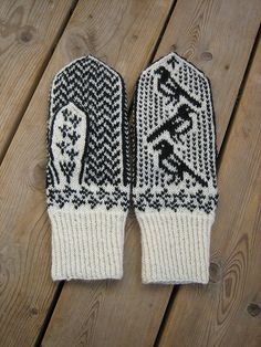 Fantastic mittens with pattern