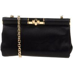 Dolce & Gabbana Shoulder Bag (30,295 DOP) ❤ liked on Polyvore featuring bags, handbags, shoulder bags, black, metallic shoulder bag, black handbags, dolce&gabbana, shoulder strap bag and black purse