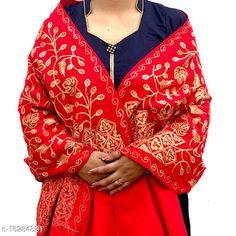 Shawls WOOLEN STOLES Fabric: Wool Multipack: 1 Sizes:  Free Size (Length Size: 2.2 m)  Country of Origin: India Sizes Available: Free Size   Catalog Rating: ★4.5 (852)  Catalog Name: Elegant Stylish Women Shawls CatalogID_3242393 C74-SC1011 Code: 174-16284881-3711