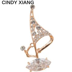 CINDY XIANG Unisex Rhinestone And Zircon Sailboat Sailor Brooches For Men/women Bijouteries Broches Summer Design High Quality