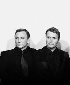 Mads Mikkelsen and Daniel Craig (Casino Royale).