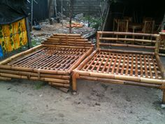 Bamboo beds from Bassam, Cote d' Ivoire. Contact me for pricing and availability!