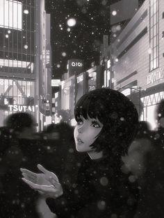 Snow, Ilya Kuvshinov on ArtStation at https://www.artstation.com/artwork/YJyy3