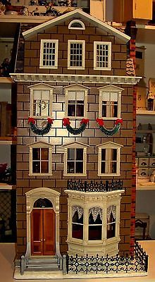FURNISHED-Norman-Rockwell-Memories-of-Christmas-Dollhouse-Vintage-Franklin-Mint