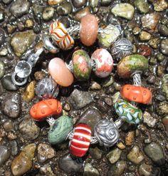 """Trollbeads with Three Artisan Stones"" By Paula"
