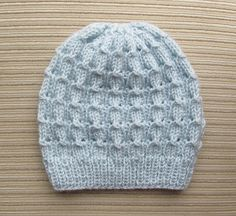 Bluebell Rib Hat - I've never seen this stitch before but it's really pretty! I need to make this in a soft blue or a nice off white.