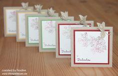 Dankeskarte Stampin Up Minicard Thank You Card Danke Karte 037