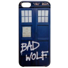 Doctor Who Bad Wolf iPhone 5 Case Hot Topic ($10) ❤ liked on Polyvore featuring accessories and tech accessories
