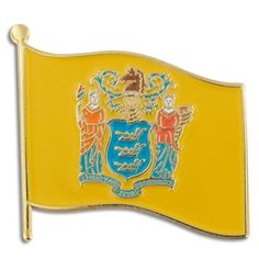 "New Jersey State Flag NJ Lapel Pin 1"" ** Learn more by visiting the image link."