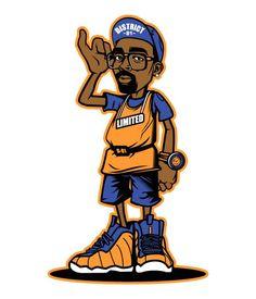 Various Projects/ Character Design 15 on Behance Arte Hip Hop, Hip Hop Art, Graffiti Characters, Cartoon Characters, Illustration Sketches, Character Illustration, Black Panther Art, Comic Art Girls, Sneaker Art