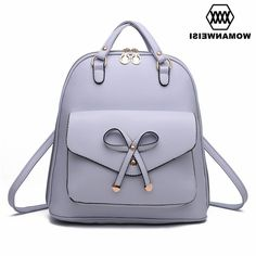 34.87$  Buy now - https://alitems.com/g/1e8d114494b01f4c715516525dc3e8/?i=5&ulp=https%3A%2F%2Fwww.aliexpress.com%2Fitem%2FFashion-Cute-Bow-Women-s-Backpack-2016-New-Brand-Travel-Backpacks-For-Teen-Girls-PU-Leather%2F32727836155.html - Fashion Cute Bow Women's Backpack 2016 New Brand Travel Backpacks For Teen Girls PU Leather Female Bagpack Mochila Back Pack