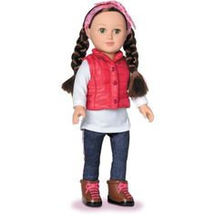 "My Life As Outdoorsy Girl 18"" Doll, Brunette - Walmart.com"