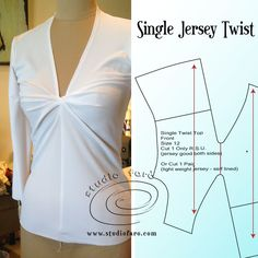 """You can come to class or download my knit block from wherever you are in the world to make this amazing pattern. """"Jersey Twist Pattern Making Worksheet (Download)"""" #JerseyTwists #Patternmakingclasses #creativepatternmaking #wellsuitedblog #knitblock"""