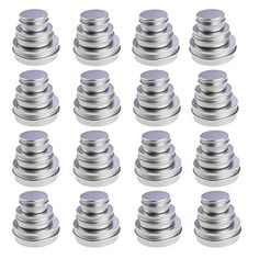 LJY 48 Pieces Round Aluminum Cans Screw Lid Metal Tins Jars Empty Slip Slide Containers Mixed Sizes *** Read more at the image link. (This is an affiliate link) Magnetic Spice Tins, Aluminum Cans, Blue Tattoo, Diy Lip Balm, Candle Accessories, Metal Tins, Beauty Supply, Toe Nails, Cool Gifts