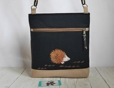 Your place to buy and sell all things handmade Happy Hedgehog, Satchel, Crossbody Bag, Belt Bags, Uk Shop, Applique Designs, Machine Embroidery, Messenger Bag, Upcycle